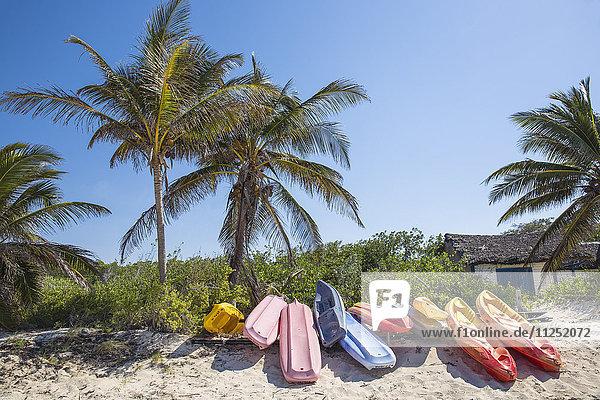 Cuba  Jardines del Rey  Cayo Coco  Paddle boats on Playa Larga
