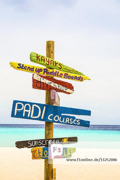 Curacao  Cas Abou Beach  Sign