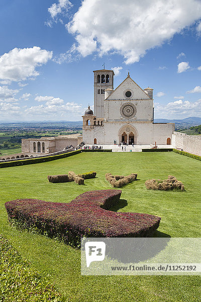 Europe  Italy  Umbria  Perugia. Basilica of St. Francis of Assisi with tau