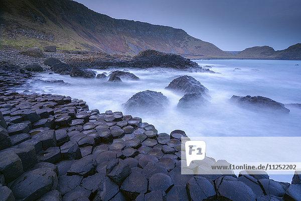 The rocks symbol of Giant's Causeway  Northern ireland
