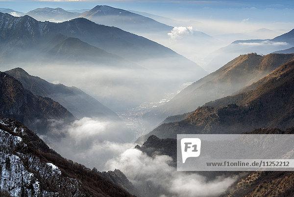 Profile at Sunrise  province of Brescia  Italy.