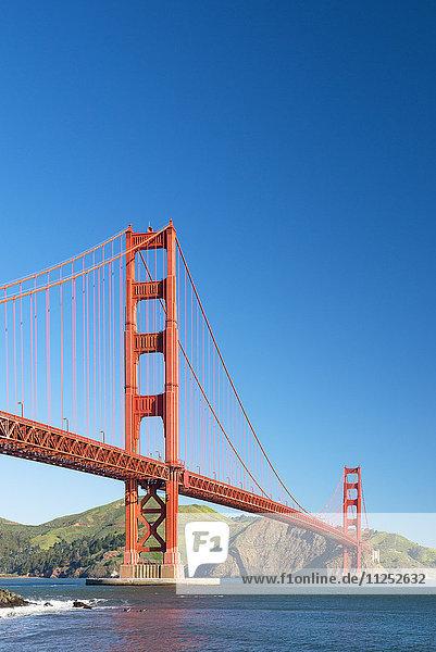 Vereinigte Staaten von Amerika USA Amerika Nordamerika Ansicht Festung zeigen Kalifornien Golden Gate Bridge San Francisco