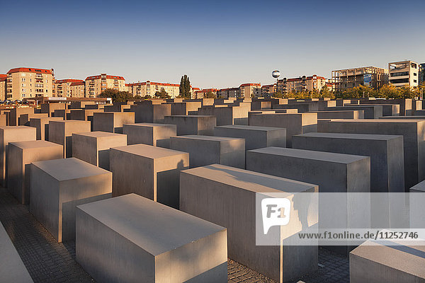 Holocaust Memorial at sunset  Berlin Mitte  Berlin  Germany  Europe