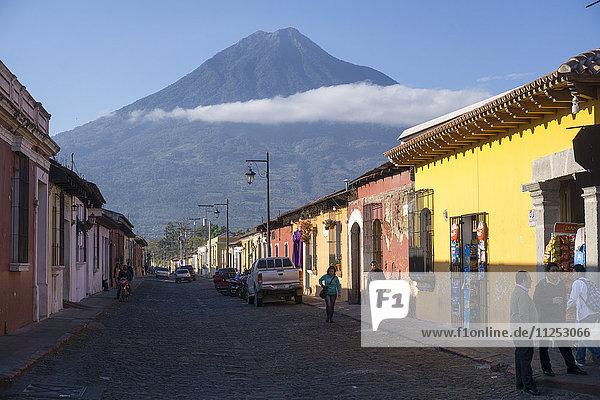 Antigua and Vulcano Fuego  Guatemala  Central America
