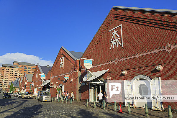 Red Brick Warehouse District  Hakodate City  Hokkaido Prefecture  Japan  Asia