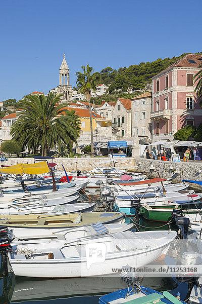 Harbour Boats  Hvar  Hvar Island  Dalmatia  Croatia  Europe