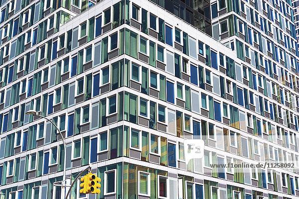 USA  New York State  New York City  Long Island City  Facade of skyscraper