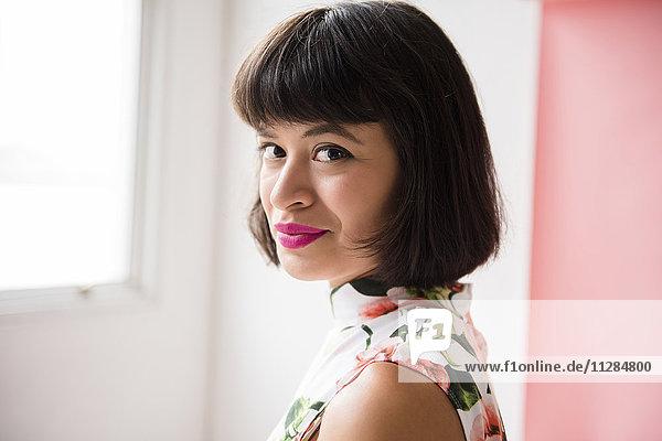 Portrait of smiling Hispanic woman