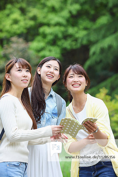 Young Japanese women on a girls trip