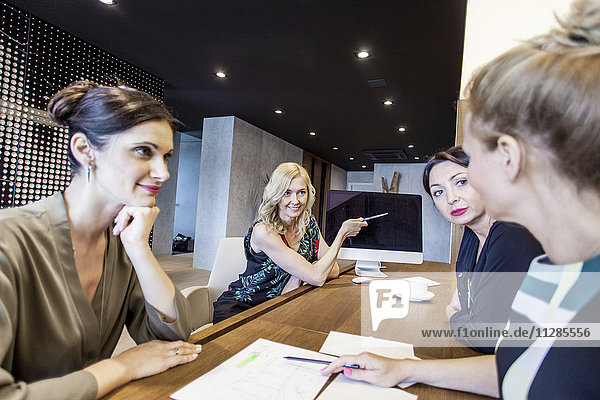Group of businesswomen having a meeting