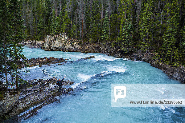 Rapids in bending river