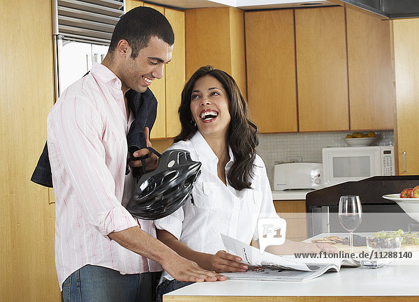 Portrait of Couple in Kitchen