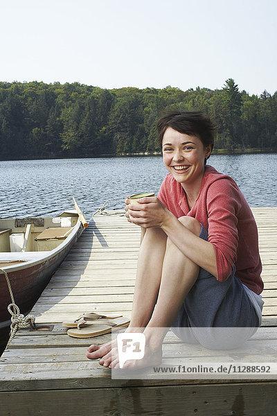 Portrait of Woman on Dock