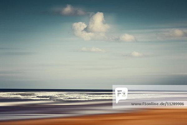 Frankreich  Contis-Plage  abstrakte Strandlandschaft
