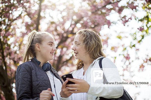 Teenage girls together