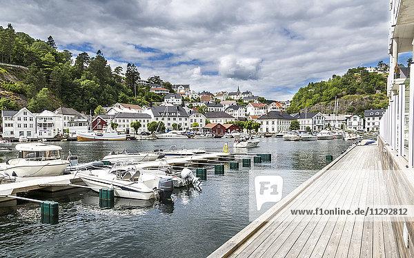 Norway  harbor of Tvedestrand
