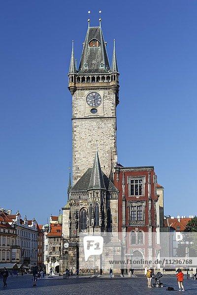 Historic Town Hall  historic centre  Prague  Czech Republic  Europe