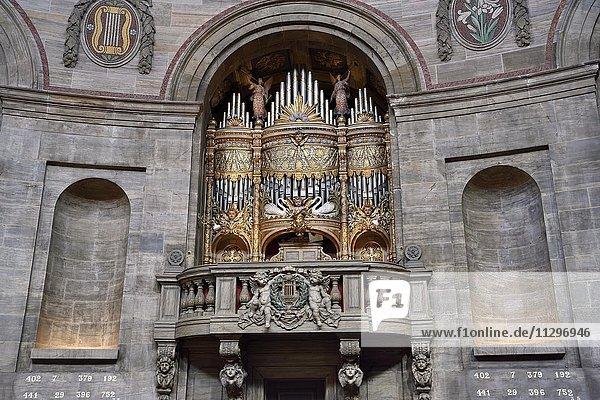 Orgel in der Frederikskirche  auch Marmorkirche genannt  Kopenhagen  Dänemark  Europa