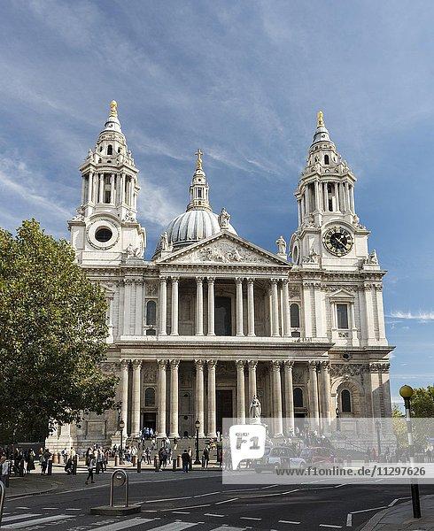 St Paul's Cathedral  London  England  Großbritannien  Europa