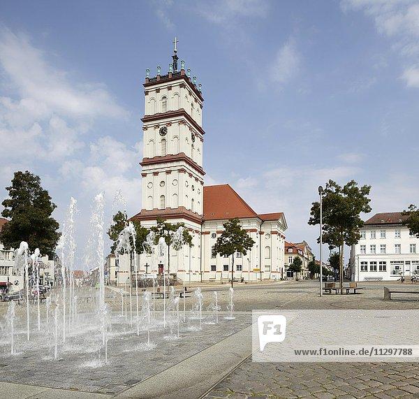 Stadtkirche am Marktplatz  Neustrelitz  Mecklenburg-Vorpommern  Deutschland  Europa