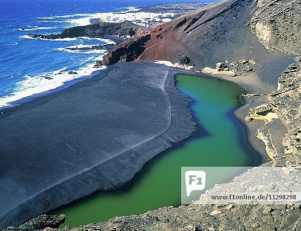 Vulkanischer Strand  Nationalpark Timanfaya  Lanzarote  Kanarische Inseln  Spanien  Europa Vulkanischer Strand, Nationalpark Timanfaya, Lanzarote, Kanarische Inseln, Spanien, Europa