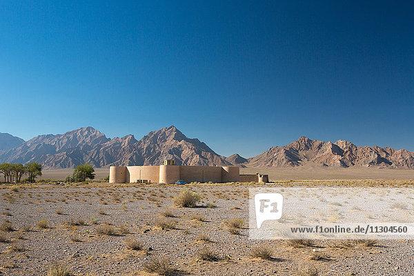 Iran  Near Yazd City  Zayn al Din Caravanserai. (round caravanserai)