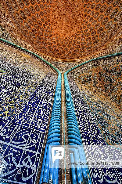 Iran  Esfahan City  Naqsh-e Jahan Square  Sheikh Lotfollah Mosque  interior