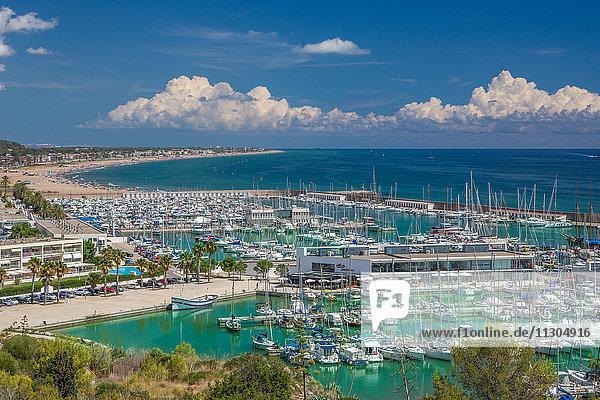 Spain  Catalonia  Castelldefels  harbour