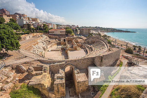 Spain  Catalonia  Tarragona City  Roman Amphitheatre  UNESCO World Heritage