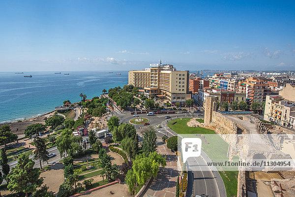 Spain  Catalonia  Tarragona City  Mediterranean sea