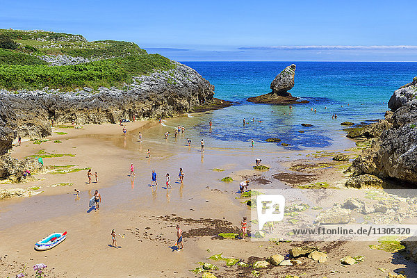 Spain  Asturias  Buelna beach
