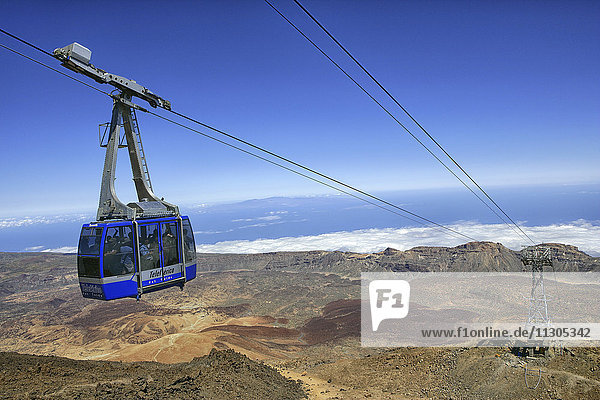 Spain  Tenerife  view from the cable car from the Mount Teide summit