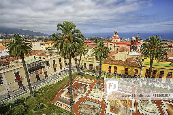 Spain  Tenerife  La Orotava  La Alfombra del Corpus Christi