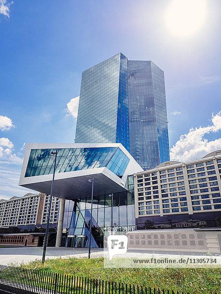 Germany  Frankfurt  European Central Bank  main entrance