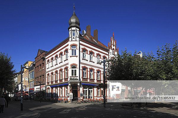House Portz on the marketplace in Grevenbroich  Lower Rhine  North Rhine-Westphalia