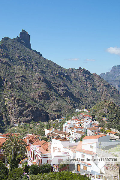 Gran Canaria  Canary islands  Spain  Europe  Tejeda  village  houses  homes