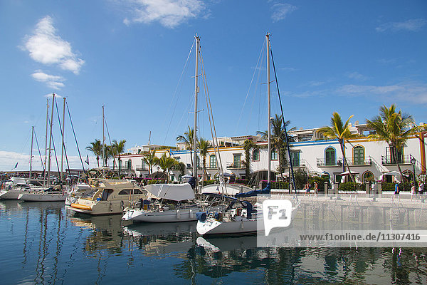 Gran Canaria  Canary islands  Spain  Europe  Mogan  Puerto de Mogan  Marina  harbour  port  sail boats  holidays  tourism