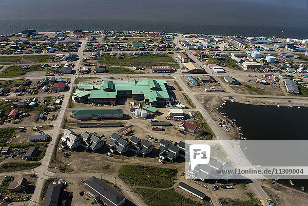 Kotzebue  Alaska  USA  aerial  town