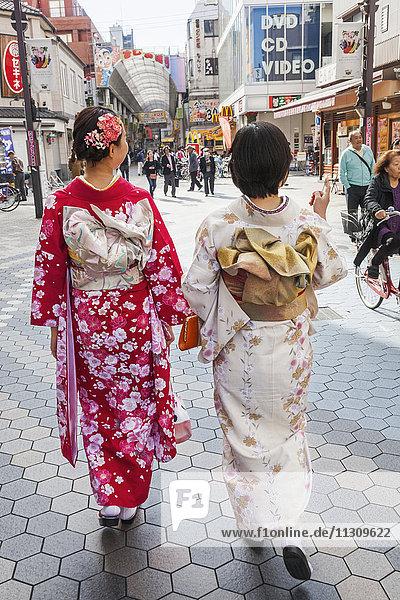 Japan  Honshu  Tokyo  Asakusa  Girls in Kimono
