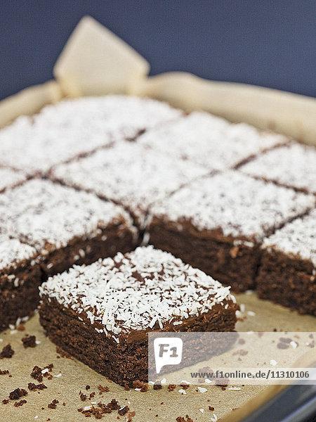 Cake on baking pan