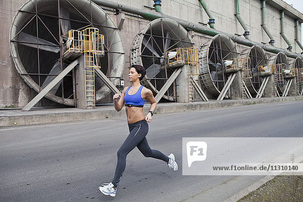 Woman  jogging  running  industry  sport  urban Woman, jogging, running, industry, sport, urban