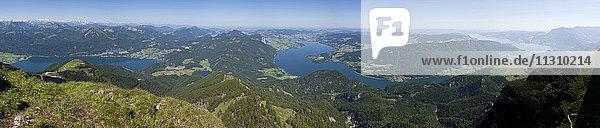 Austria  Upper Austria  Salzkammergut  lakes  scenery  Schafberg  lake  panorama Austria, Upper Austria, Salzkammergut, lakes, scenery, Schafberg, lake, panorama