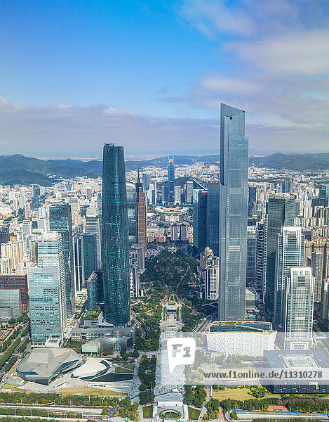 China  Guangdong Province  Guangzhou City  Wuyang New Town  International Financial Center and East Tower