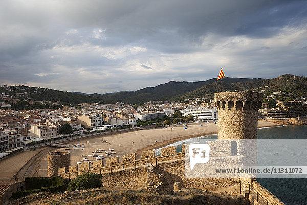 Spanien  Costa Brava  Tossa de Mar  Blick aus der Altstadt