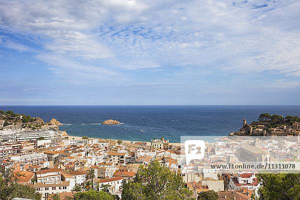Spanien  Costa Brava  Tossa de Mar  Stadt und Mittelmeer