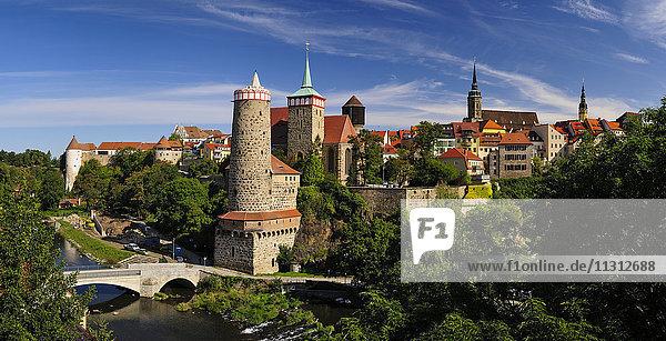 Deutschland  Sachsen  Bautzen  Blick auf die historische Altstadt