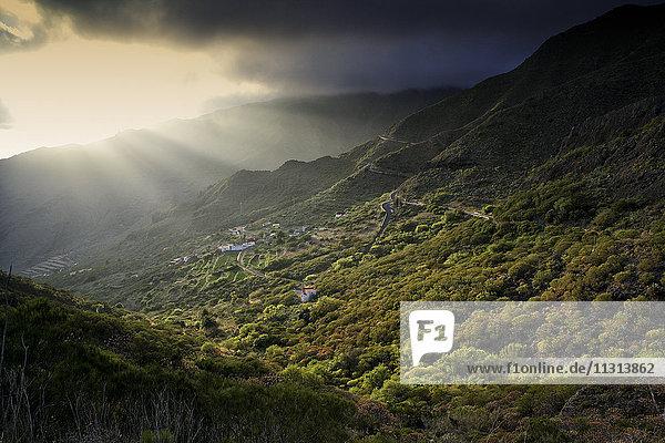 Spanien  Teneriffa  Berge bei Masca