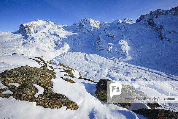 Monte Rosa - 4633 ms  Dufourspitze - 4634 ms  Liskamm - 4527 ms  Valais  Switzerland