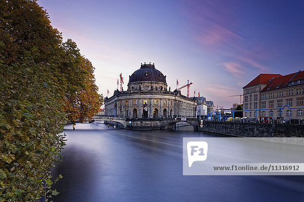 Germany  Berlin  Bode Museum at twilight