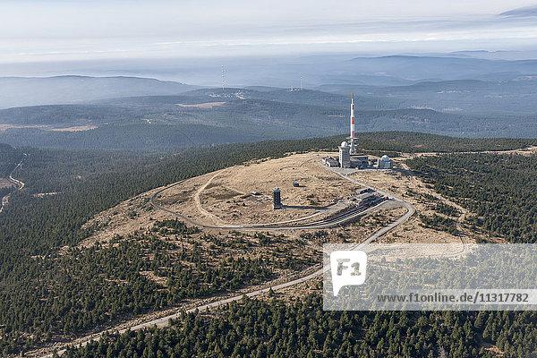 Deutschland  Sachsen-Anhalt  Nationalpark Harz  Luftaufnahme Brocken